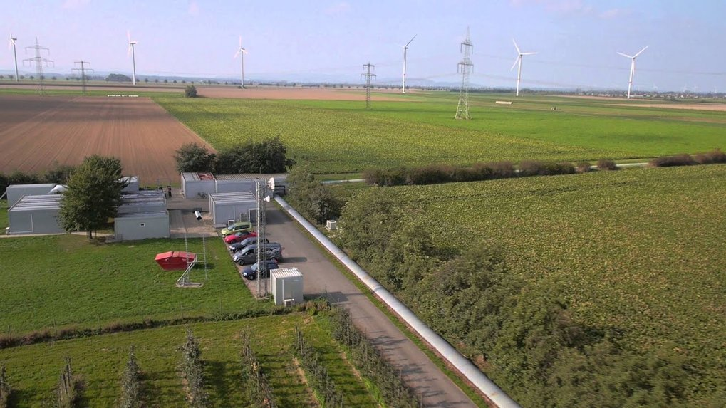 "The German-British gravitational wave detector GEO600 near Hannover <span class=""style-scope yt-formatted-string"" dir=""auto"">filmed from the air</span>."