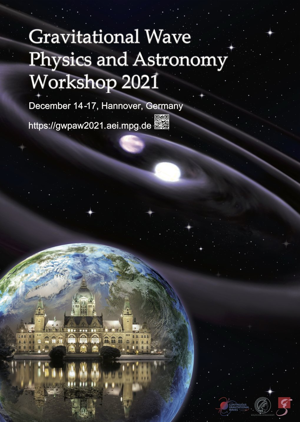 Homepage des Gravitational Wave Physics and Astronomy Workshop 2021, organisiert von unserer Arbeitsgruppe